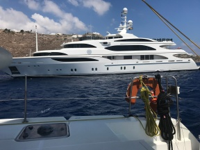 Yachts Abound in Mykonos Waters