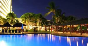 Nighttime Pool Scene