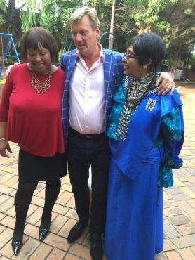 Erik with Winnie and Zindziswa Mandela