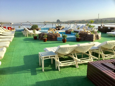 The pool deck, the place to relax