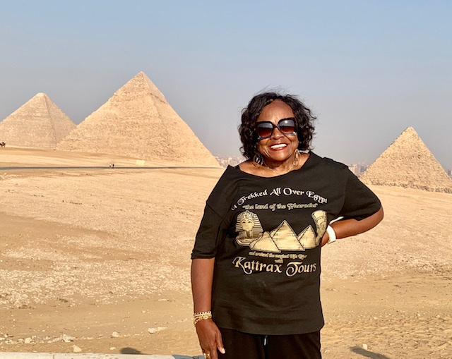 Lucille at the Pyramids