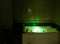 Bathroom with Lighted Jacuzzi and DVD Player
