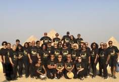 The Group at the Pyramids In Giza