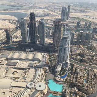 From 124th flr of Burj Khalifa