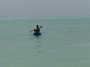 Sonya In Paddle Boat