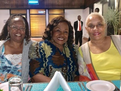 Billie, Lucille, Marlene at Welcome Dinner