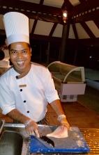 Chef Preparing The Fish We Caught