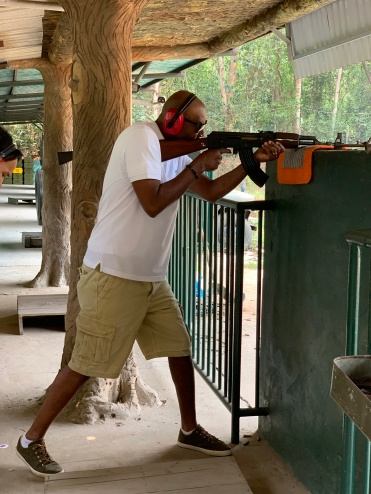 Phil with an AK47