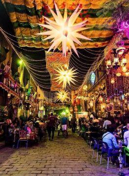 Lanterns Adorn the Streets