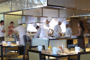Chefs at Work at Day & Night Restaurant