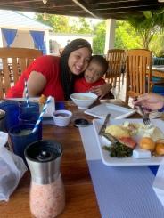 Casey & King at Breakfast