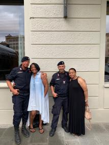Tosha and Alisha with the Polizia