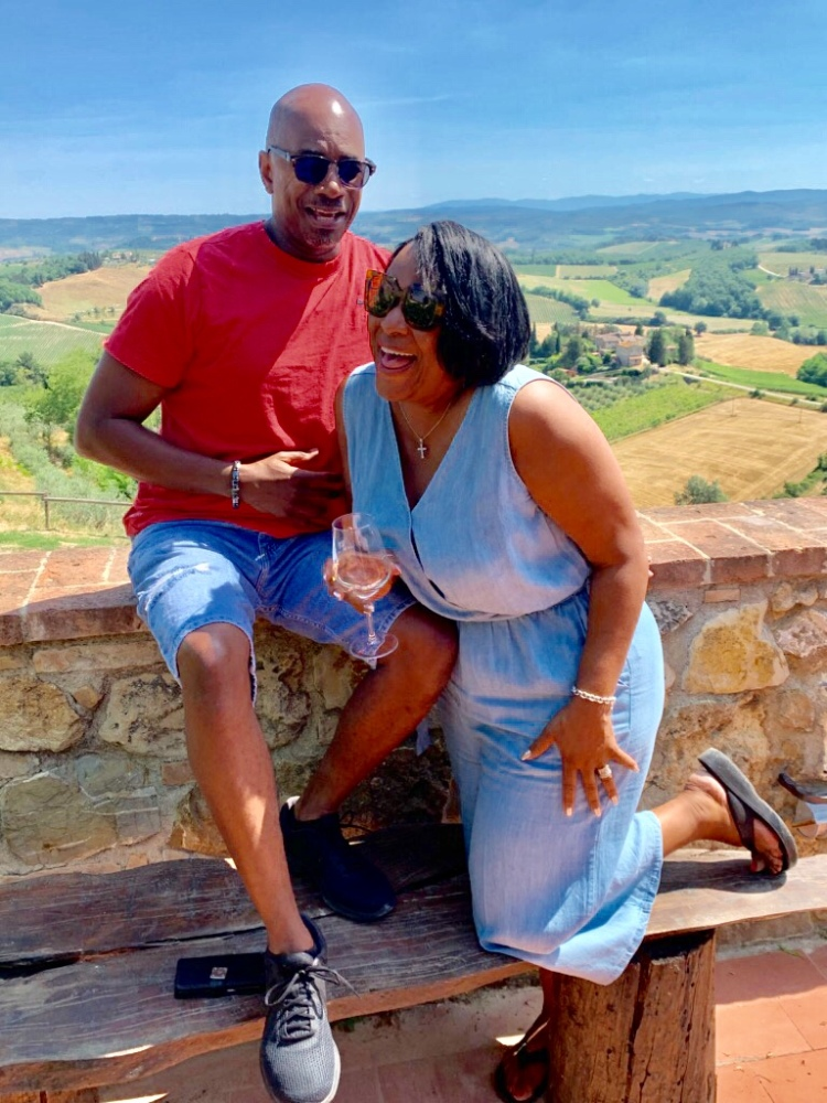 Cousin Darryl and Tosha Enjoying the Winery