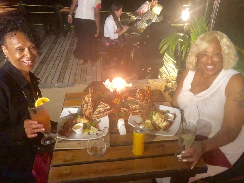Lobster dinner at WICKED WALU