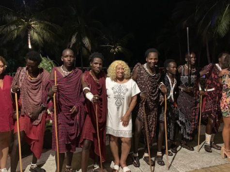With Masai Warriors - Dinner Entertainment