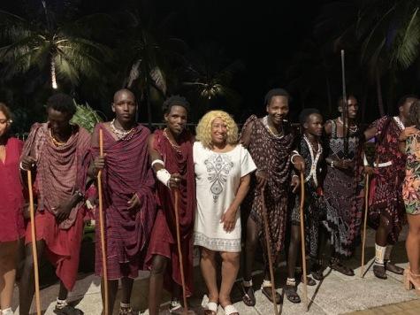 With Masai Warriors - Dinner Entertainment