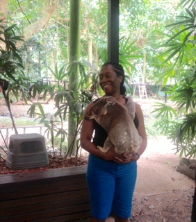 Cynthia and baby Koala