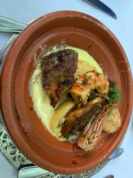 Tagine of Sea Bass and Prawn