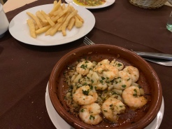 Shrimp in Garlic at Casa Jose
