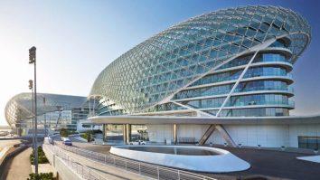 Yas Viceroy Hotel built over a Formula 1 Track
