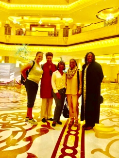 Lesley, Pamela, Ora, Gwen and Liz in Emirates Palace Lobby