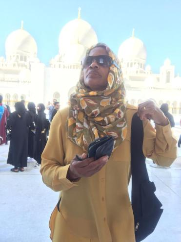 Gwendolyn Brown at the Mosque