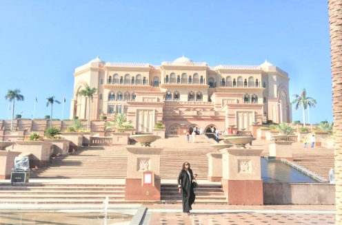 Liz at Emirates Palace